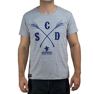 Camiseta Sacudido's Capim Cinza Mescla