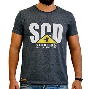Camiseta Sacudido's SCD TRATOR - Preto Mescla