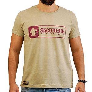 Camiseta Sacudido's Logo Etiqueta Nova - Charuto Mescla