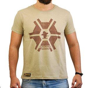 Camiseta Sacudido's Agronomia - Charuto Silk Café