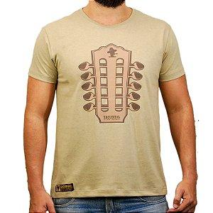 Camiseta Sacudido's - Viola Caipira - Bege