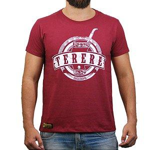 Camiseta Sacudido's - Tereré - Vinho