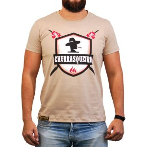 Camiseta Sacudido's - Churrasqueiro - Bege