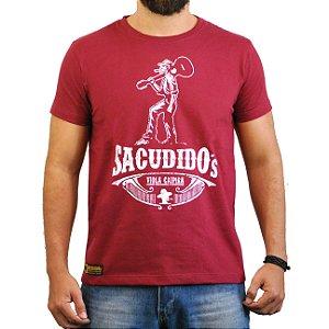 Camiseta Sacudido's Viola Caipira Vinho