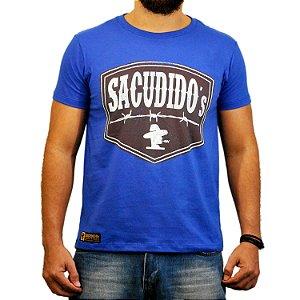 Camiseta Sacudido's Etiqueta Arame - Azul