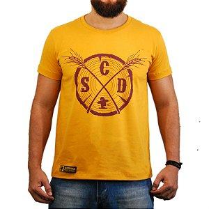 Camiseta Sacudidos Tronco Amarelo Mostarda