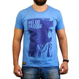 Camiseta Sacudidos - Rei do Pagode - Azul