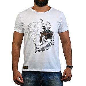 Camiseta Sacudido's - Chimarrão - Branca
