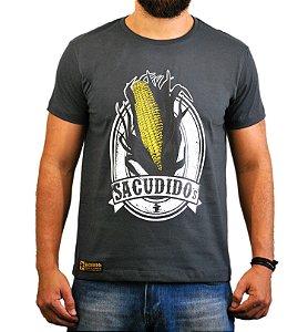 Camiseta Sacudido's Espiga de Milho - Cinza Chumbo