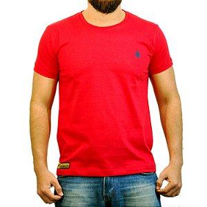 Camiseta Sacudido's Básica - Vermelho e Azul