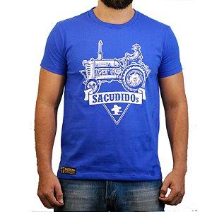 Camiseta Sacudido's Trator - Azul