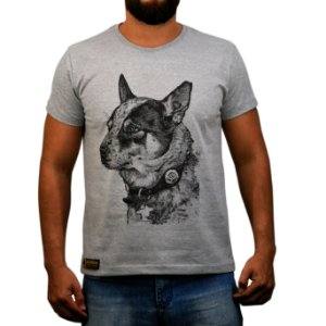 Camiseta Sacudido's Boiadeiro Australiano - Cinza Mescla
