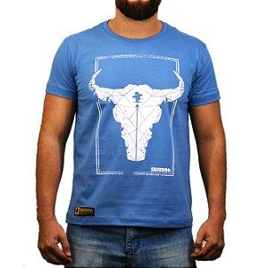 Camiseta Sacudido's Boi Geométrico - Azul