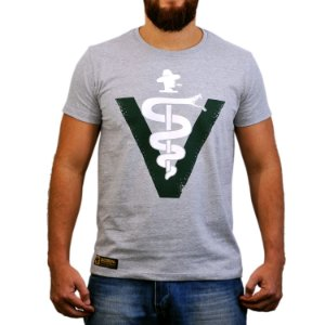 Camiseta Sacudido's - Veterinário - Cinza Mescla