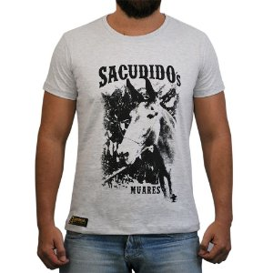 Camiseta Sacudido's Muares - Cinza Mescla Clara