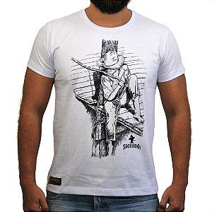 Camiseta Sacudido's - Pescador - Branca