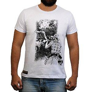 Camiseta Sacudido's - Berranteiro - Branca