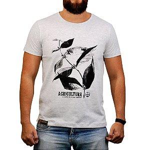 Camiseta Sacudido's - Pé de Café - Cinza Mescla Cl