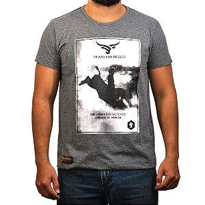 Camiseta Sacudido's - Paixão por Rodeio - Chumbo M