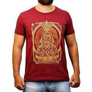 Camiseta Sacudido's - Aparecida - Vinho