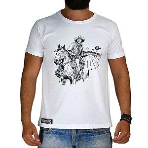 Camiseta Bão Nu Mundo - Cavaleiro - Branca
