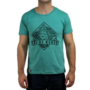 Camiseta Bão Nu Mundo - Paisagem Sítio - Verde
