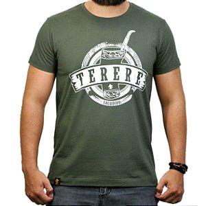 Camiseta Sacudido's Tereré- Verde Musgo
