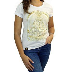 Camiseta Sacudido's Feminina - Aparecida - Branco