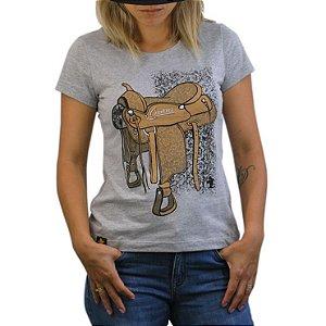 Camiseta Sacudido's Feminina Sela - Cinza