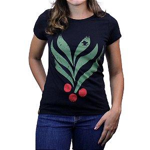 Camiseta Sacudido's Feminina - Café - Preto