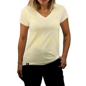 Camiseta Sacudido's Feminina Básica - Natural