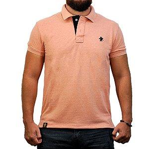 Camiseta Polo Sacudido's - Rosê e Preto