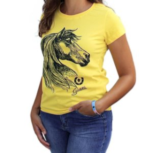 Camiseta Sacudido's Feminina - Cavalo - Verano