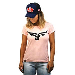 Camiseta Sacudido's Feminina Boi Estilizado - Rosa