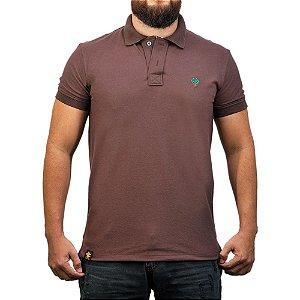 Camiseta Polo Sacudido's - Café Marrom