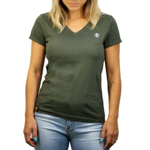 Camiseta Sacudido's Feminina Básica - Verde Musgo