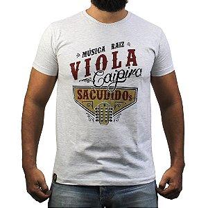 Camiseta Sacudido's - Música Raíz - Cinza Claro