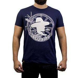 Camiseta Sacudido's - Roda de Carroça - Azul Marinho
