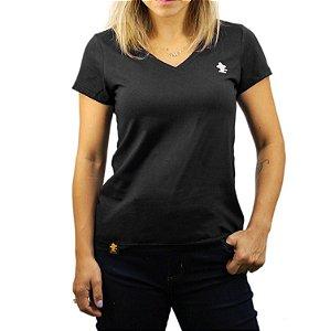Camiseta Sacudido's Feminina Básica - Preto
