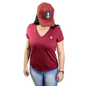 Camiseta Sacudido's Feminina Básica - Vinho