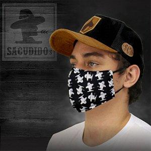 Máscara Sacudido´s - Logo Sublimado Total - Preta