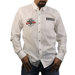 Camisa Manga Longa Sacudido's Rodeio - Branco