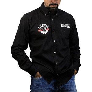 Camisa Manga Longa Sacudido's Rodeio - Preto