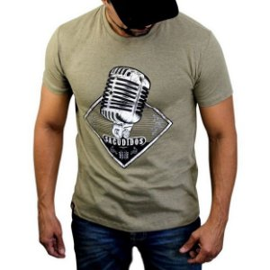 Camiseta Sacudido´s - Microfone - Charuto mescla