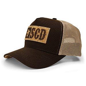 Boné Sacudido's - Etiqueta SCD - Marrom / Cortiça