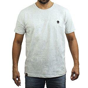 Camiseta Sacudido's - Básica - Cinza Claro e Preto