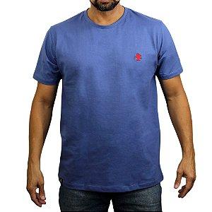 Camiseta Sacudido's - Básica - Cimento e Vermelho