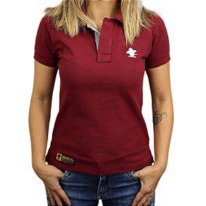 Camiseta Polo Feminina Sacudido's - Vinho