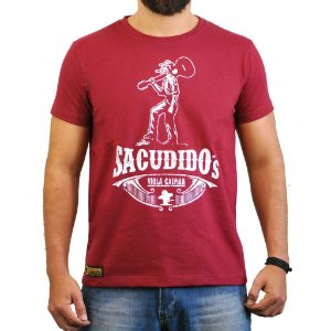 Camiseta Sacudido's - Viola Caipira - Vinho