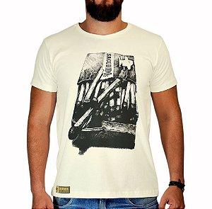 Camiseta Sacudido's - Fósforo - Bege